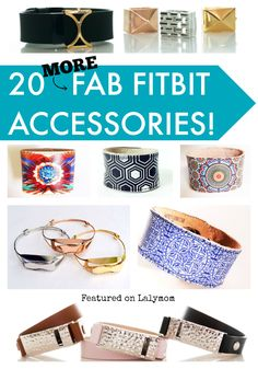 20 MORE Fab Fitbit Accessories - Whether you need a fitbit replacement band or want to dress up your fitness tracker, check out these perfect styles today! Fitbit Wristband, Fitbit Flex, Fitbit Charge, Fitness Tracker, You Fitness, Fitness Motivation, Fitbit Hacks, Cool Gifts, Best Gifts