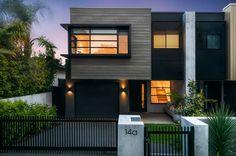 Townhouse Designs, Modern Townhouse, Duplex House Design, Small House Design, Facade Design, Exterior Design, Architecture Design, Duplex Plans, Narrow House