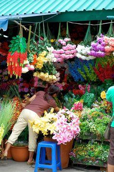 Flower Vendor Chatuchak Market,Bangkok,Thailand by Lionel Randall Bangkok Tour, Bangkok Thailand, Bangkok Travel Guide, Thailand Travel, Samui Thailand, Exotic Flowers, Beautiful Flowers, Laos, Chatuchak Market