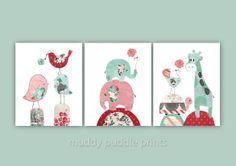 Nursery art print Nursery decor baby girl by MuddyPuddlePrints, $33.00
