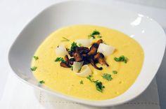 #SOUPE Velouté de potiron au mascarpone et champignons