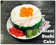 Surprise somebody with a giant sushi birthday cake!