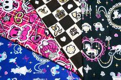 lolita fabric scrap SL41 by beautifulwork on Etsy, $4.50