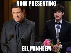 If John Travolta presented the DramaFever awards- I was literally lol'ing at these... stupid but funny.
