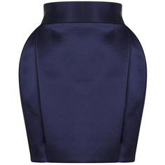 Balmain Dark blue structured mini skirt (£1,095) ❤ liked on Polyvore featuring skirts, mini skirts, balmain skirt, short skirts, dark blue skirt, high waisted short skirts and structured skirt