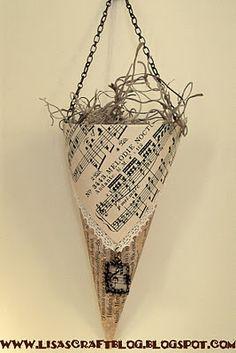 Vintage-Look Cone Ornament Tutorial