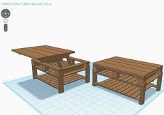 Diy palette lift coffee table