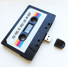 4GB/8GB/16GB USB Mixtape Retro Quirky Personalized Gift