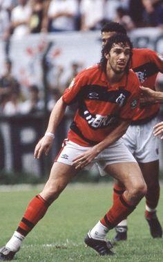 Casagrande no Flamengo. A camisa rubro negra ficou bem nele.