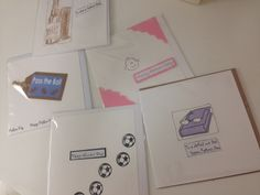 Lot of different cards - all handmade by Sally - perfect for whatever your Dad likes.