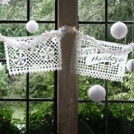 White Winter Mexican Papel Picado Tissue Paper