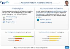 Comprehensive and personalized assessment results!