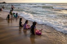 Everyday Middle East sur Instagram: Gaza beach, June 24, 2020. By @fatimashbair Arab World, Middle East, Discovery, Waves, June 24, Sea, Globe, Outdoor, Children