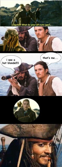 Watched the first two pirates of the Caribbean this week