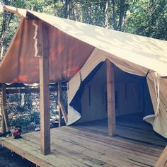 From Colorado Tent's FB page. A nice deck setup. Wall Tent, Colorado, Glamping Tents, Deck, Patio, House, Vacation Ideas, Outdoor Decor, Instagram