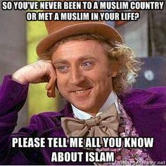 So you're an expert on Islam?