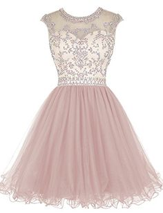 Tideclothes Short Beading Prom Dress Tulle Homecoming Dre... https://www.amazon.com/dp/B018DTQZS0/ref=cm_sw_r_pi_dp_VsWLxb6MV20HF
