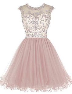 Tideclothes Short Beading Prom Dress Tulle Homecoming Dre... https://www.amazon.com/dp/B018DTQZS0/ref=cm_sw_r_pi_dp_VsWLxb6MV20HF
