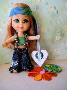 Mattel Liddle Kiddles OOAK Kiddle Kreation HIPPIE CHICK series, Anabelle