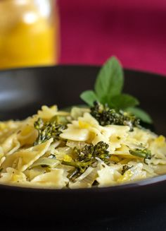A quick, easy, healthy pasta dish with fresh broccoli, leek, herbs and preserved lemon #pasta #preserved #lemon #broccoli @mjskitchen