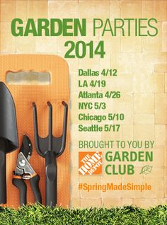 Celebrate Spring at a Home Depot Garden Party!