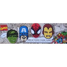 Amazon.com: Marvel Comics Cookie Cutters Set of Four (Incredible Hulk, Captain America, Spider-Man, Iron Man): Everything Else
