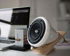 Ceramic Speakers by Joey Roth  The Ceramic Speakers connect directly to iPods and other digital music players to form an elegant, minimal music system. Their ... more  $495 USD