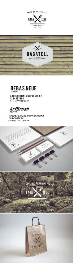 identity / bagatell restaurant | #corporate #branding #creative #logo #personalized #identity #design #corporatedesign < repinned by www.BlickeDeeler.de | Visit our website www.blickedeeler.de/leistungen/corporate-design/logo-gestaltung