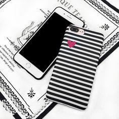 Stripe Love Heart Pattern Phone Case For iPhone 6 6S 6Plus 7 7 Plus   #Sale #Discount #New #Trend #Hot #Buy
