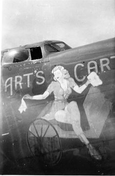 B-24 #42-40896, Art's Cart, served with the 63rd Squadron, 43rd Bomb Group from September 1943 to August 1944. This plane will be a color profile in our next book, Ken's Men Against the Empire, Vol. II.