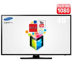 "Smart TV LED 40"" Full HD Samsung UN40H5"