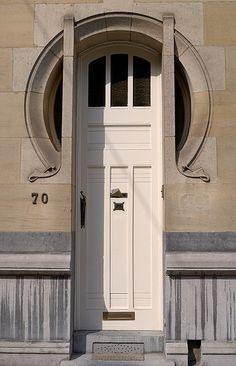 Art Nouveau door, Brussels | Flickr: Intercambio de fotos