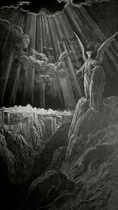 Phillip Medhurst presents detail 241/241 Gustave Doré Bible The New Jerusalem Revelation 21:1-2