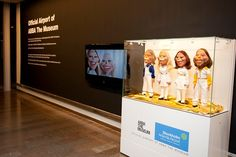 At Stockholm Arlanda Airport - display publicizes opening of ABBA Museum on 05/07/13.