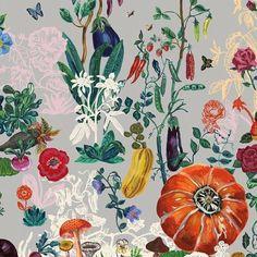 Papier Peint Domestic : Le Jardin Décoratif de Nathalie Lété