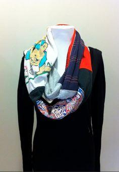 a repat scarf displayed at Redress Boston  redressboston.blo...