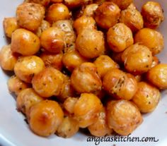 gluten free dairy free crunchy chickpeas ** These are so good. A healthy snack even the kids like.