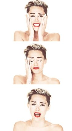 Feels. Wrecking ball wasn't Miley just being weird and running around naked... everything in the video was symbolic of her failed relationship with Liam. People need to stop judging her when they know nothing about her life on the inside. She is in pain and dealing with it in all the wrong ways.