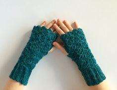 Crochet fingerless gloves PATTERN PDF wrist by LittleMonkeyShop Fingerless Gloves Crochet Pattern, Mittens Pattern, Fingerless Mitts, Crochet Mittens, Wrist Warmers, Hand Warmers, Lace Boot Cuffs, Red Heart Yarn, Crochet Patterns For Beginners