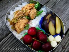 bento lunch for non-fish lovers
