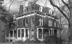 McPike Mansion, Alton, Illinois. Built in 1869 by Henry Guest McPike; supposedly one of the most haunted homes in America.
