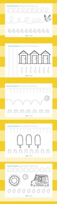 Free Line Handwriting Worksheets