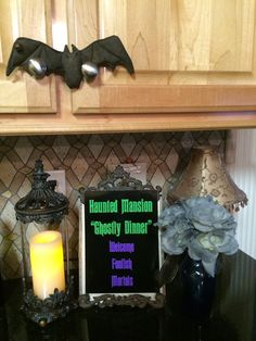 Haunted Mansion Welcome Foolish Mortals Dinner Sign