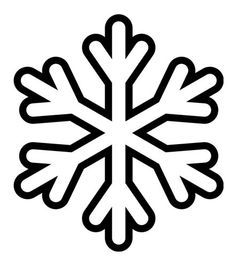 Printable Simple Snowflake Pattern Use The Pattern For Crafts Snowflakes Coloring Page