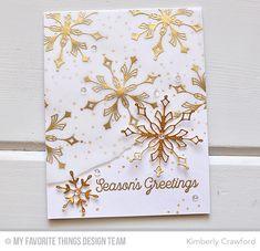 Simply Snowflakes Stamp Set, Stylish Snowflakes Die-namics, Snowfall of Blessings Stamp Set - Kimberly Crawford  #mftstamps