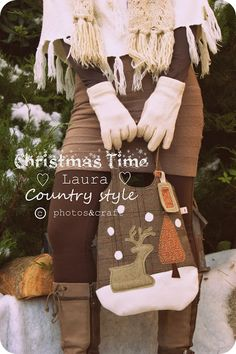 Once upon a time : winter's bag https://www.etsy.com/listing/121055112/christmas-reindeers-pattern-pdf-sewing?ref=shop_home_active