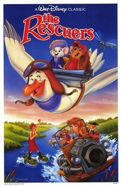 1989 – 'The Rescuers' (theatrical re-release poster) by Bill Morrison. Compliments of Disney. Disney Pixar, The Rescuers Disney, Walt Disney, Disney Cartoon Movies, Disney Movie Posters, Disney Animation, Disney Cartoons, Disney Magic, Animation Movies