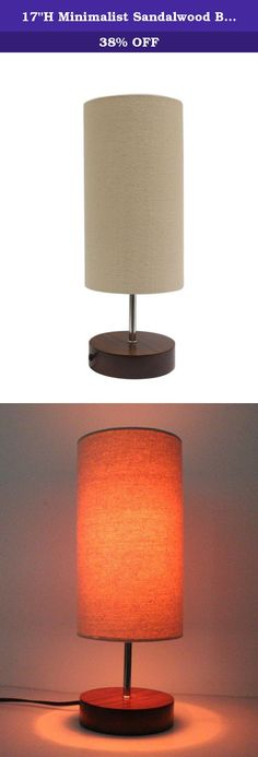 """17""""H Minimalist Sandalwood Base Living Room Indoor Desk Lamp (Round). PRODUCT DESCRIPTION Desk lamp with Sandalwood base with natural canvas lamp shade perfect for dorm room bedroom home and office -Base of lamp is made of authentic Sandalwood which creates a uniqueness to each lamp, bringing a special style to any room. -It's lamp shade is made of canvas material, which makes a perfect fit for any artist or anyone with a sense style. -These beautiful lamps come in two shapes: circular…"""