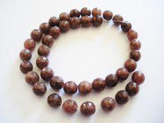 Perles de jade a facettes 8 mm x48 : Perles pierres Fines, Minérales par mercerie-jewelry