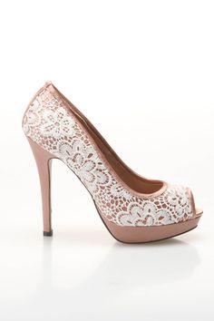Lace Peep Toe Shoe